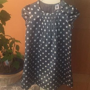 Carters gray with white polka dots dress 4